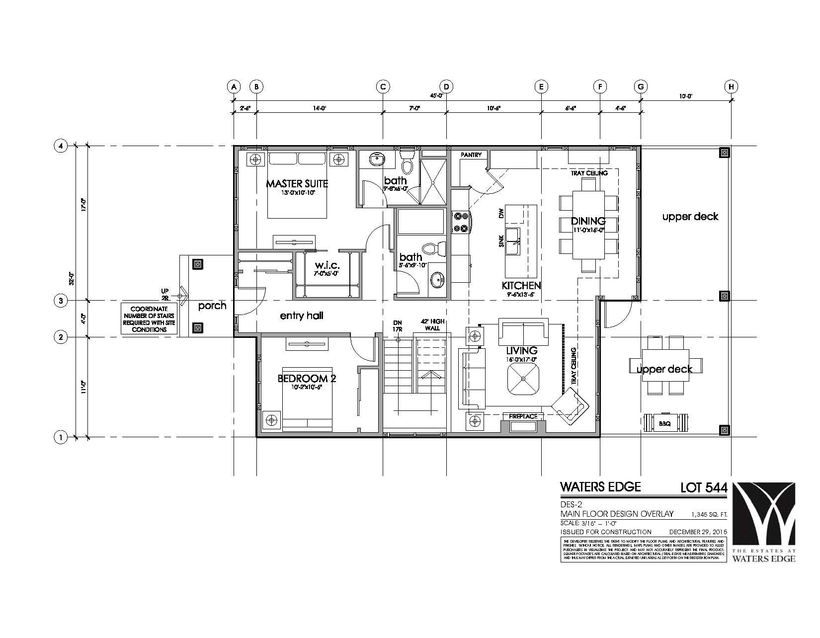 Waters Edge Lot 544-Main Floor